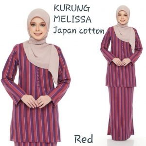 baju kurung japan cotton melissa