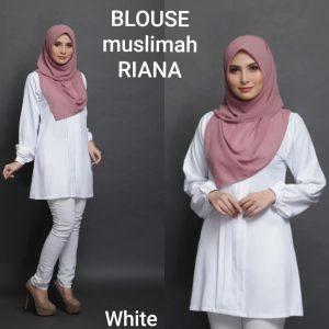 blouse muslimah moss crepe