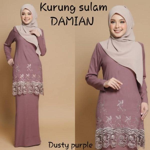 baju kurung printed sulam damian