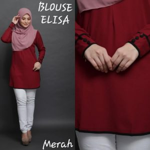 blouse muslimah elisa moss crepe