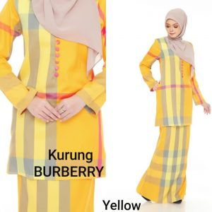 baju kurung burberry cotton