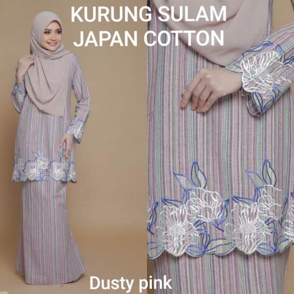 baju kurung sulam japanese cotton
