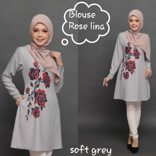 blouse moss crepe rose lina