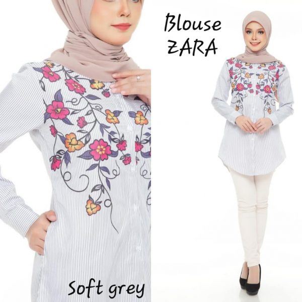 blouse muslimah moss crepe zara