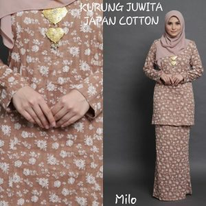 baju kurung japanese cotton juwita