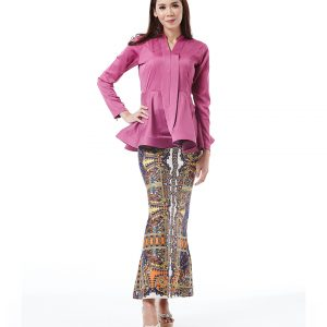 kebaya peplum aira korean silk